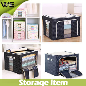 Folding Waterproof Fabric Containers Large Fabric Storage Bins Box pictures & photos