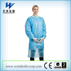 Disposable CPE Gown with Elastic Cuff pictures & photos