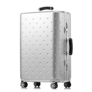 Magllu Luggage Travel Set Bag ABS+PC Trolley Suitcase Silver Grey pictures & photos