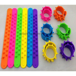 Sports PVC Reflective Slap Wrap Wristband Silicon Snap Bracelet pictures & photos