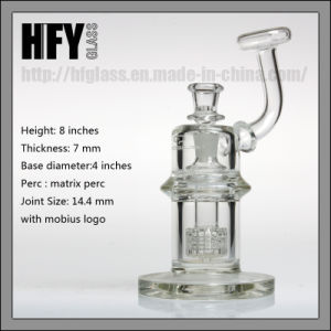 "Mobius Glass Smoking Pipe Water 7mm Height 8"" Mobius Atom Matrix Perc Pyrex Bubbler Wholesale pictures & photos"
