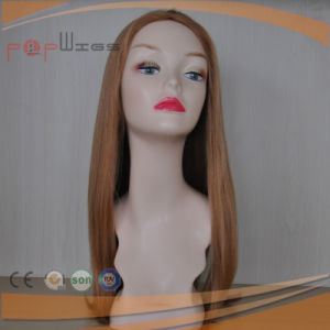 Full Lace Human Hair Blond Skin Top Women Wig pictures & photos