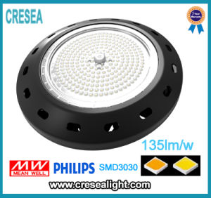 UFO LED High Bay Lamp with 135lm/W Black Case CRI80 and 3030SMD Nichia or Philips Chip pictures & photos