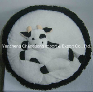 Round Decoration Cow Cushion with Cow Print Material pictures & photos