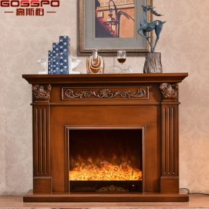 Guangdong Manufacture French Style Carved Wood Fireplace Mantel (GSP14-002) pictures & photos