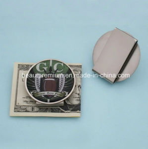 Hot Sell Round Stainless steel Money Clip with Beauty Pattern for Men BPS0145