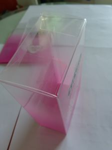 UV Offset Printing Hot Stamping Folding Plastic Box with automatic bottom pictures & photos