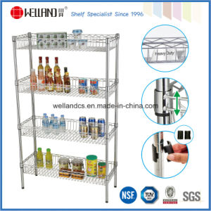 NSF 4 Tiers Steel Kitchen Basket Display Rack (BK12045180A4C) pictures & photos