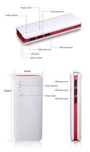 3 USB Power Bank for Samsung Powerbank 12000mAh Backup Power pictures & photos