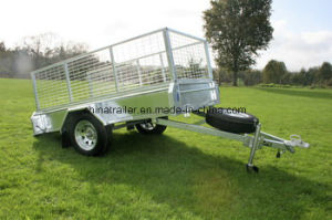 6X4 Small Box Utility Trailer with Cage pictures & photos