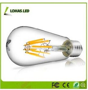 Dimmable Edison LED Filament Bulb Light Warm White with 2W 4W 6W 8W Retro Decoration pictures & photos