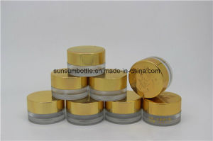 Small Pet Cosmetic Skin Care Cream Jar with Golden Cap pictures & photos