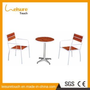 Coffee Dessert Shop Indoor Furniture Aluminum Plastic Wood Table and Chair pictures & photos