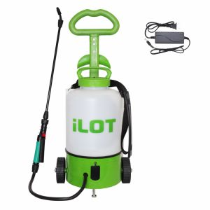 China Ilot 8L Plastic Wheel Rechargeable Electric Garden Sprayer