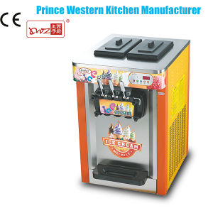Commercial Tabletop Factory Hot Sale Color Painting Three Flavors Soft Ice Cream Frozen Yogurt Maker pictures & photos