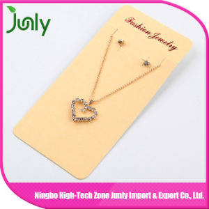 Heart Gold Pendant Women Fashion Necklace Set Jewelry with Earrings pictures & photos