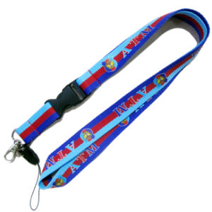 Polyester Multi-Color Dye Sublimation/Heat Transfer Logo Custom Lanyard for Games pictures & photos