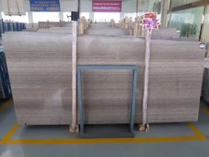 2017 Grey Grain Wooden Marble White Slab for Interior Decoration pictures & photos