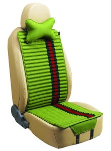 Car Seat Cover Flat Shape Double Sides Use with Checked Linen and Pleuche-Red pictures & photos