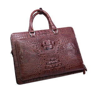 2017 Designer Men Genuine Crocodile Leather Briefcase Custom Laptop Briefcase pictures & photos