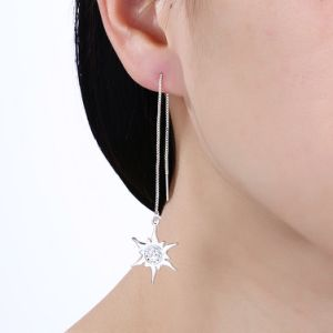 Sun Pendant Silver Plated Fashion Jewelry Women Earrings pictures & photos