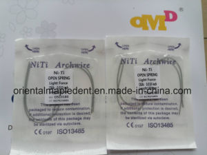 Dental Materials Orthodontic Niti Archwires Open Spring pictures & photos