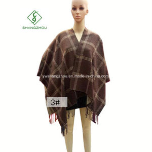 More Thick Warm Clothes Plaid Furcal Cashmere Shawl pictures & photos