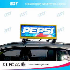 High Brightness Full Color 3G/4G/WiFi Taxi Top LED Display for Advertising Display pictures & photos