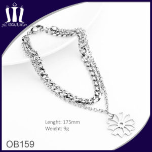 New Designer Flower Shape Girls′ Stainless Steel Metal Bracelet pictures & photos