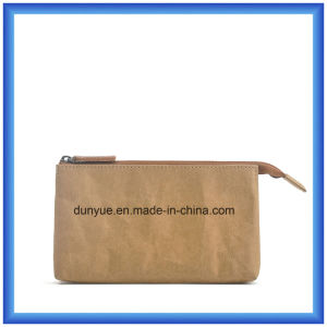 Popular New Material DuPont Paper Purse Handbag / Wallet Bag, OEM Eco-Friendly Tyvek Paper Cosmetic Bag with Zipper pictures & photos