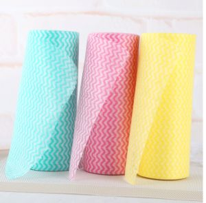 Tear off Point Roll Dishcloth Nonwoven Microfiber pictures & photos