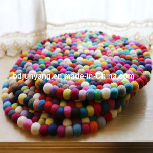 Handmade Pure New-Zealand Wool Felt Ball Rug pictures & photos