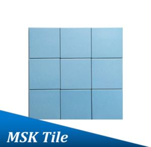 "4X4""Matt Sky Blue Glazed Porcelain Floor and Wall Tile pictures & photos"