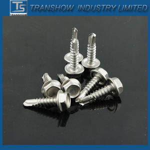 8X1 Inch Ss410 Hex Washer Head Self Drilling Screw pictures & photos