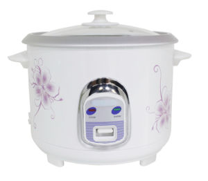 Straight Body Electric Rice Cooker with Glass Lid