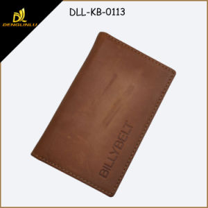 Crazy Horse Leather Name Card Holder, Leather ID Card Holder