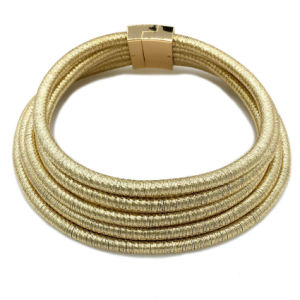 Fashion Alloy Geometric Exaggeration Necklace Magnetic Deduction Multi - Layer Braided Rope Necklace pictures & photos