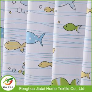 Custom Fish Printed Unique Kids Bathroom Shower Curtains pictures & photos