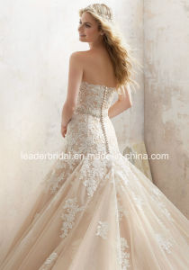 Cream Lace Wedding Gowns A-Line Tulle Bridal Dresses Lm8101 pictures & photos