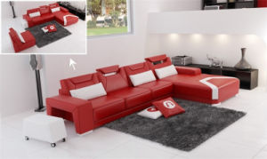 Modern Living Room Sectional Sofa with Two Foot Stool (HC1011) pictures & photos