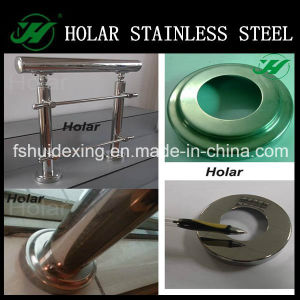 Mirror Polish Stainless Steel Handrail Round Base Cover pictures & photos
