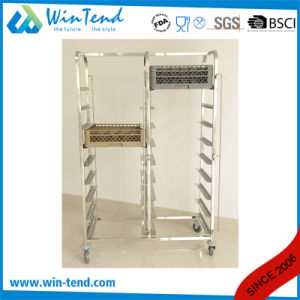 Manufactory 9 Tiers Commercial Dual Rows Dishwasher Rack Trolley pictures & photos
