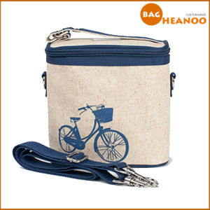 Bicycle Cartoon Simplicity Cooler Bag Functional Canvas Shoulder Bag pictures & photos