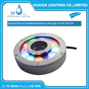 IP68 RGB 27W Stainless Steel LED Fountain Underwater Light pictures & photos