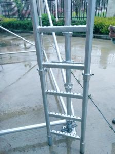 Cuplock Scaffolding Galvanized Steel Ladder and Ladder Bracket pictures & photos