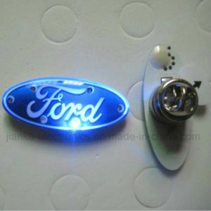 Logo Customized LED Flashing Magnetic Pin with Logo Printing (3569) pictures & photos
