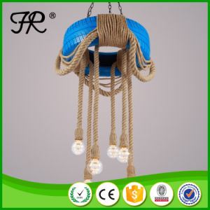 blue Color Round Pendant Lamp with Tyre Material pictures & photos