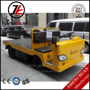 Factory Price 3.0t Platform Full Electric Tractor Trailer Truck with DC Motor pictures & photos