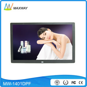 Narrow Bezel HD Video MP3 Digital Photo Frame 14 Inch with Human Sensor pictures & photos