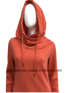 Plain Design Long Hoody for Women with Peached Face and Terry Inside pictures & photos